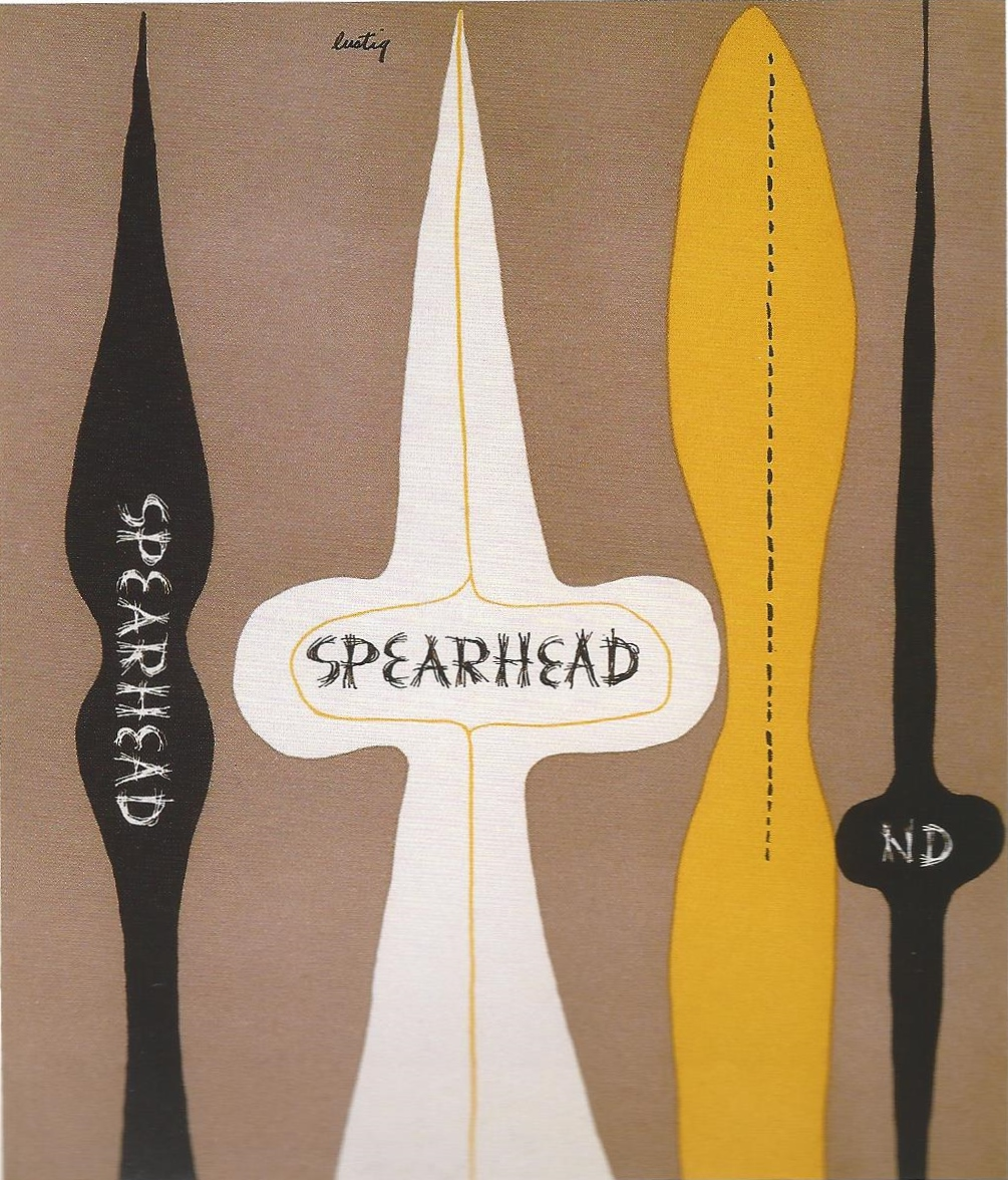 Fig. 9 Alvin Lustig, Spearhead: edited by James Laughlin, 1947. © Elaine Lustig Cohen, Courtesy of Elaine Lustig Cohen.