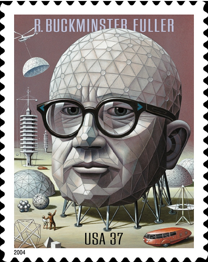 Buckminster Fuller Commemorative Stamp