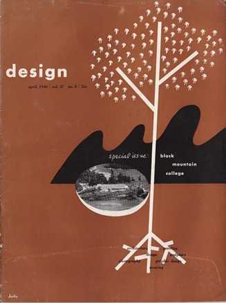 Fig. 10 Alvin Lustig, Design magazine, special issue on Black Mountain College of Design, April 1946. © Elaine Lustig Cohen, Courtesy of the Black Mountain College Museum and Art Center.