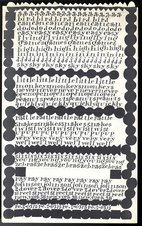 Fig. 11 Ray Johnson, Untitled (Design Promotion page), circa 1950s. © Ray Johnson Estate, Courtesy Museum of Modern Art Library.
